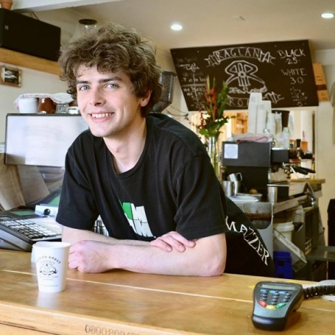 Employee at coffee shop